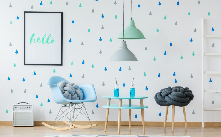 Designer blue kid's room