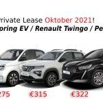 Nieuw Aanbod Lease 'M! Dacia Spring EV | Renault Twingo | Peugeot 208