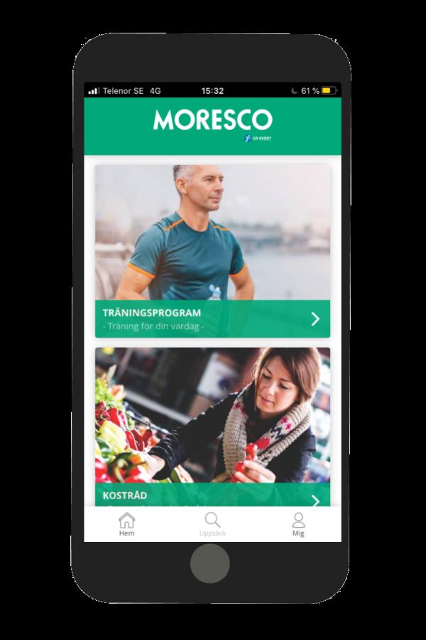 Moresco använder Gå Svårt till sin friskvård