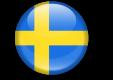 Sveriges flagga rund