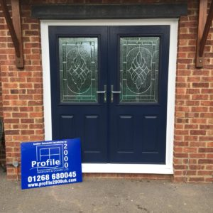 Navy Blue Composite Doors