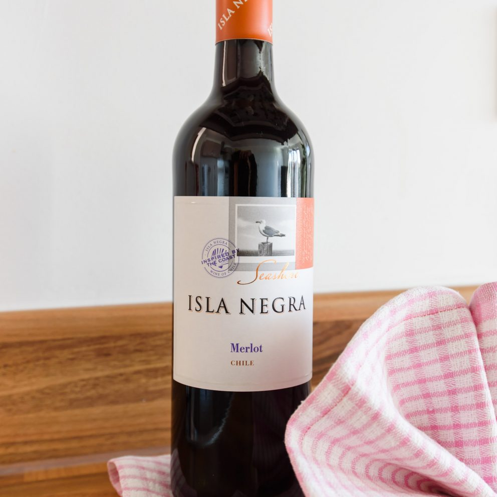 Bramante Heights welcome bottle of wine