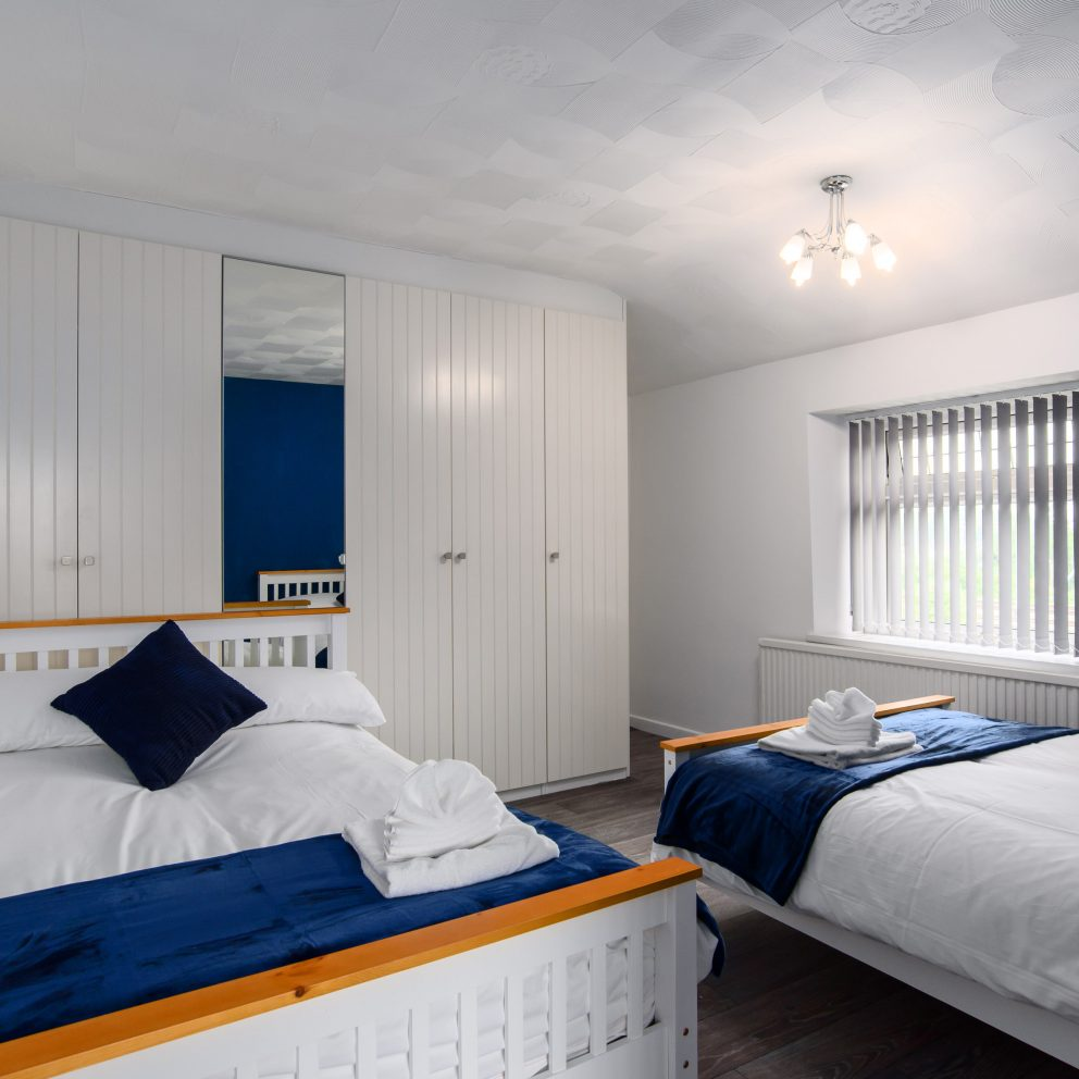 Clarence Heights twin bedroom