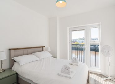 Raphael Heights bedroom with view of river usk