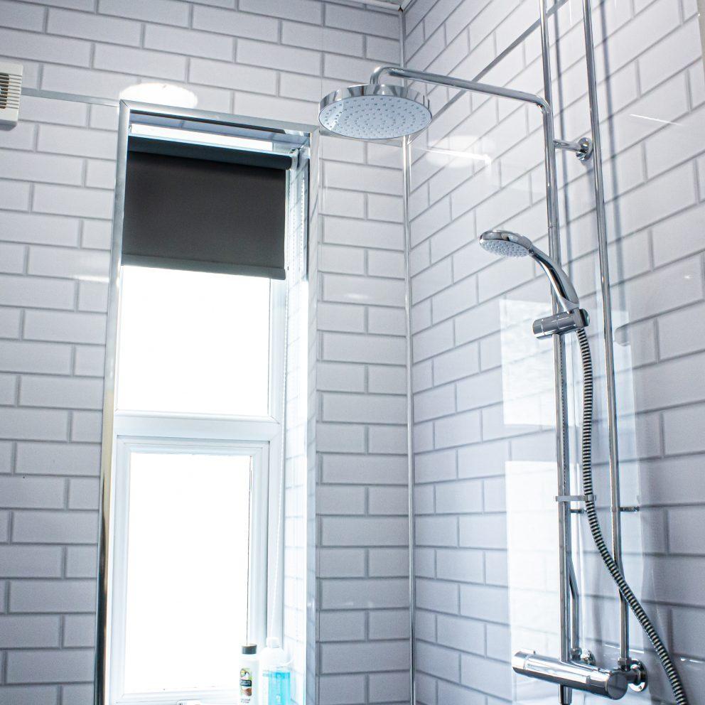 Caerau Heights shower