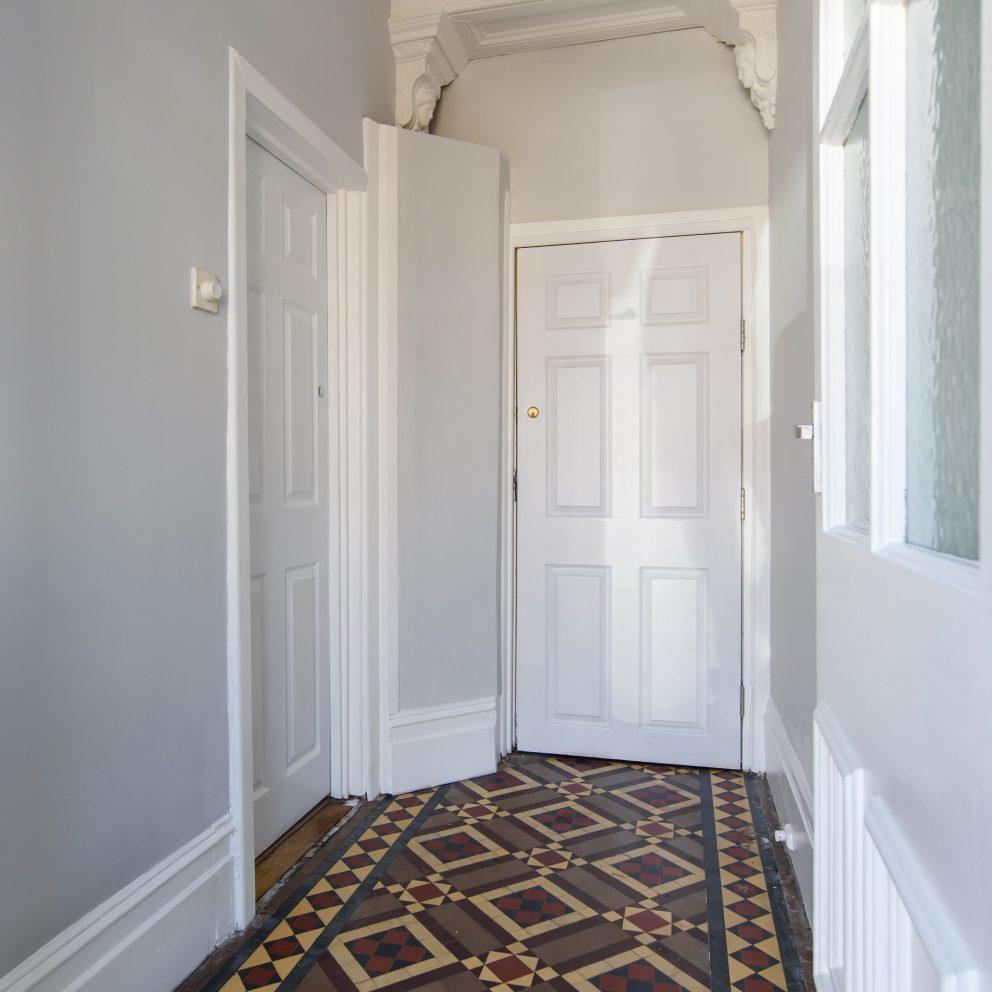 Handpost retreat hallway