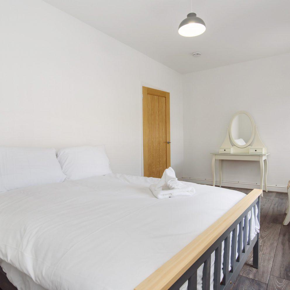 Hengoed House double bedroom view