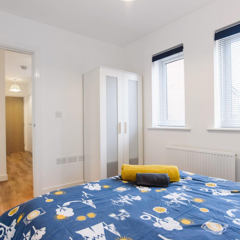 Magenta River blue bedroom & wardrobe