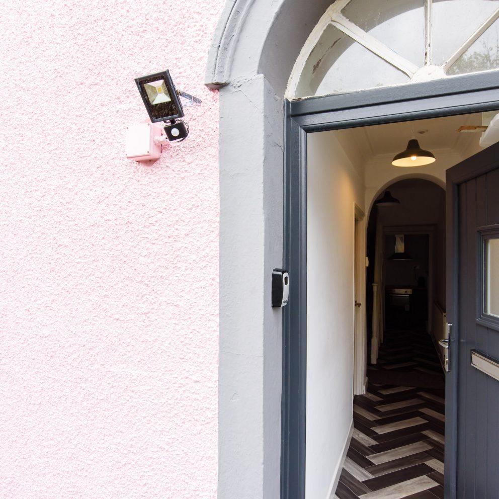 Railway Cottage front door
