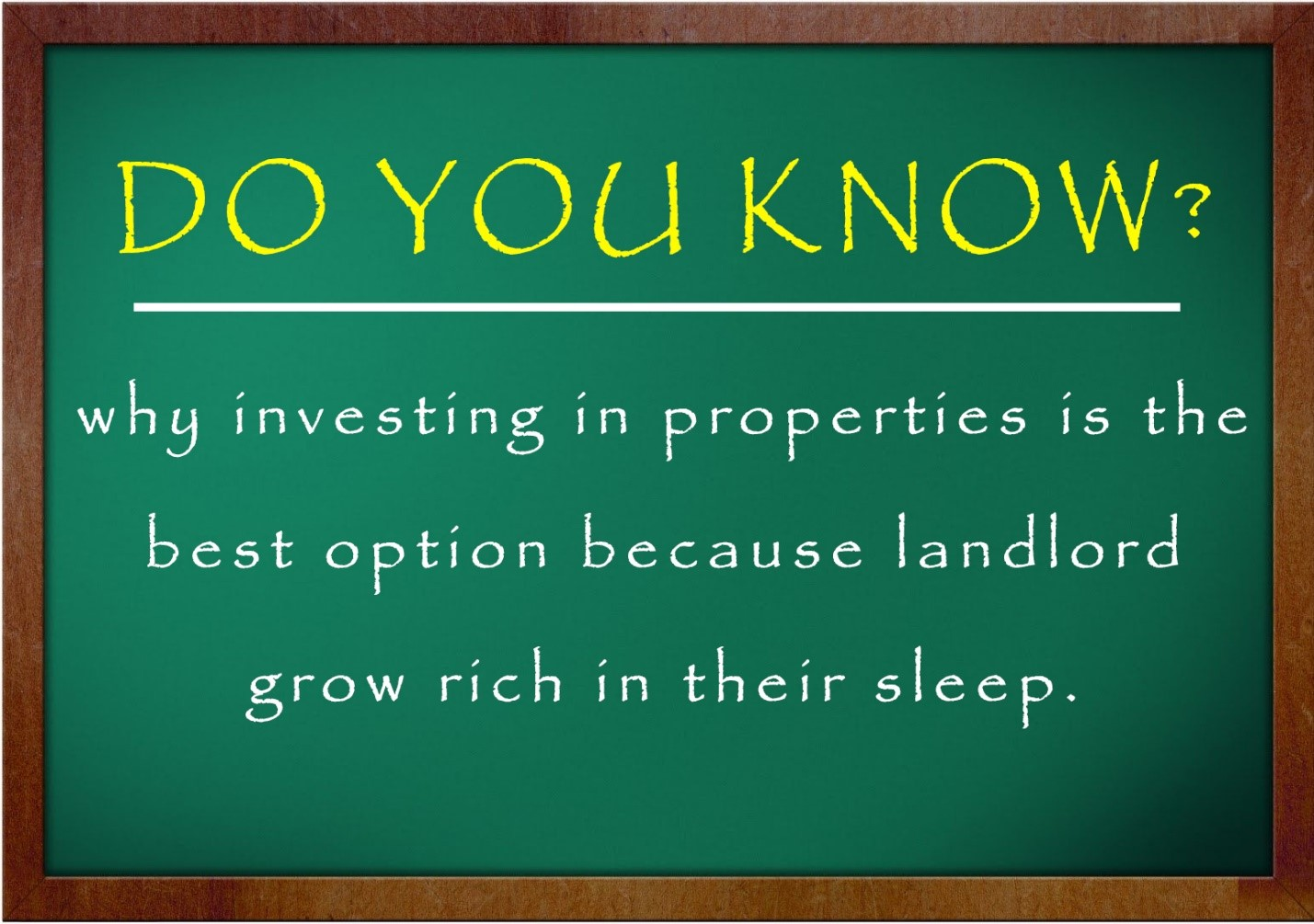 Why Do you invest in properties