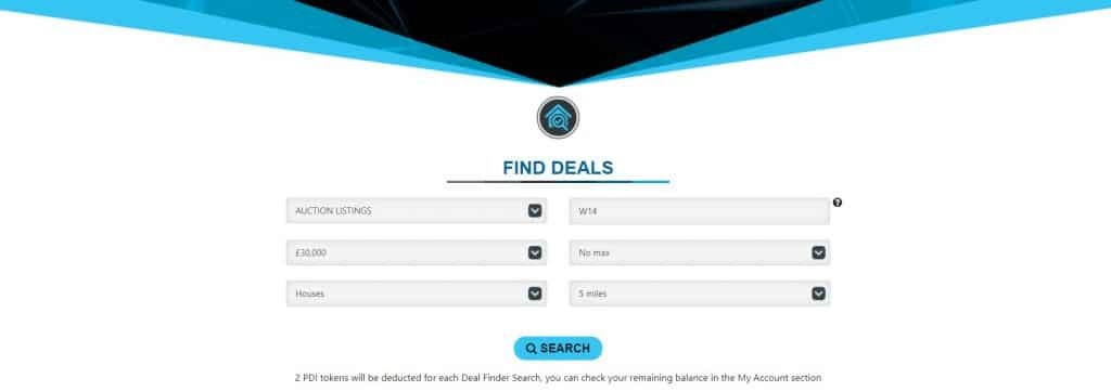 Find Deals with Deal Finder of Property Deals Insight