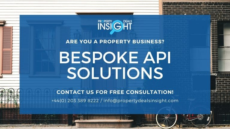Bespoke Property and Data API Solutions for Real Estate Clients by Property Deals Insight