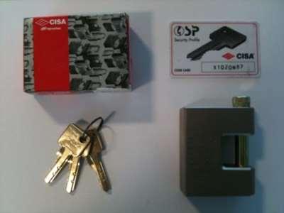 Viser lås + nøgler