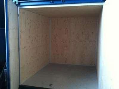 10 fods lagercontainer fra Containex isoleret, set indefra. Kan også leveres med el, lys, varme etc. Vi isolerer også skibscontainere