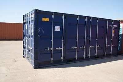 20 fods sidedørs skibscontainer