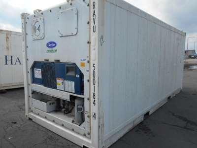 20 fods reefercontainer udefra