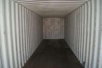 Skibscontainer indefra