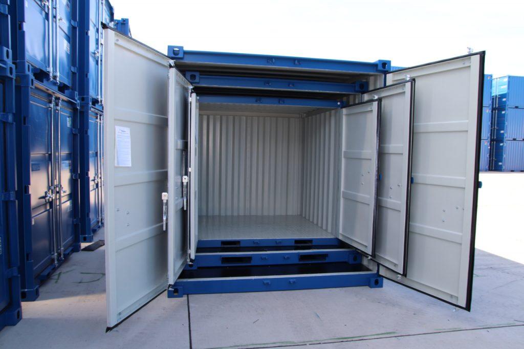 6, 8 og 10 fods lagercontainer pakket sammen. Spar penge på fragten og bestil 6, 8 og 10 fods containere sammen.