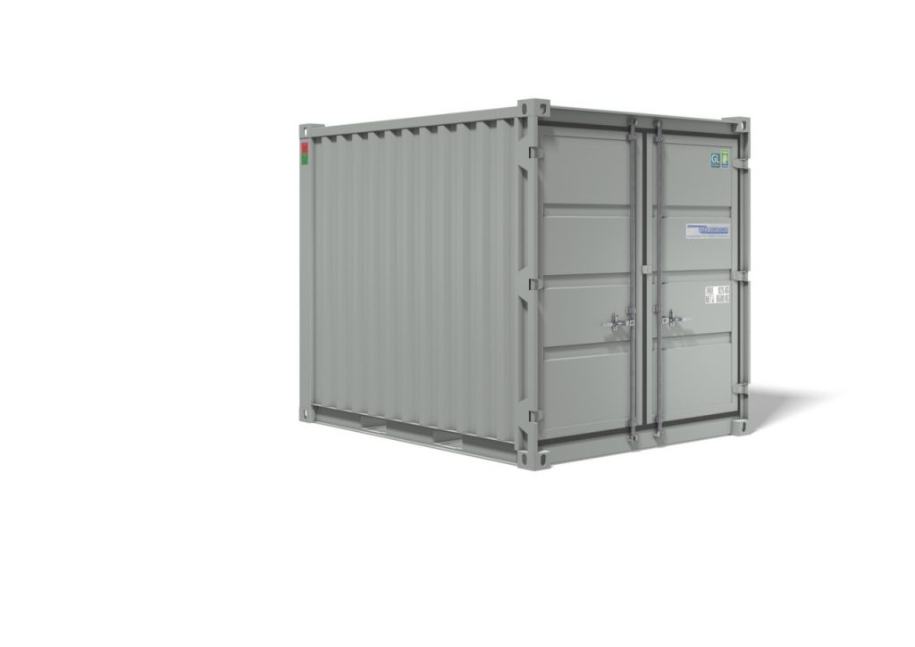 Lagercontainer 10 fods fra Containex, RAL 7035