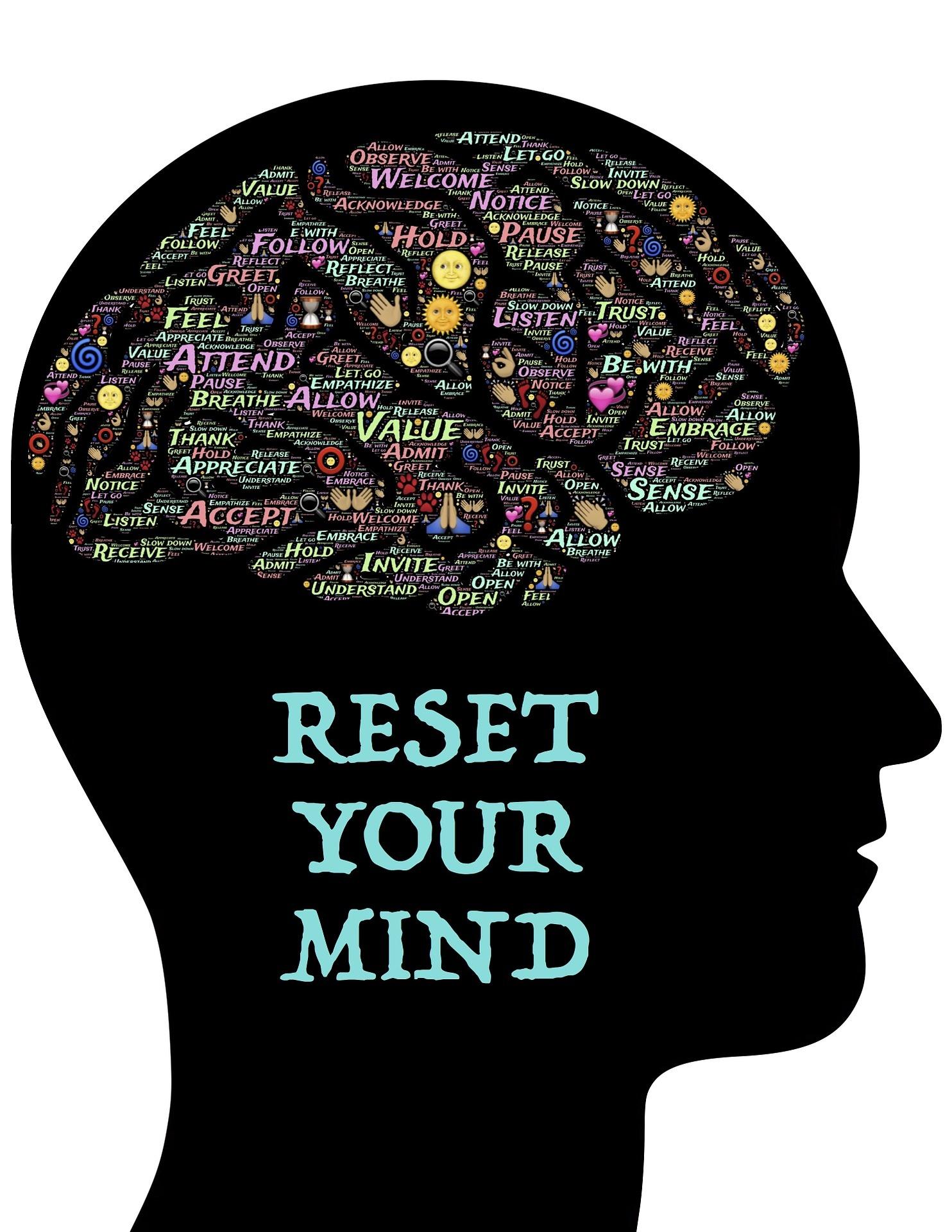 Tankehåndtering. Tanker er kun tanker. Tanker kan ikke smides væk.  Du kan arbejde med dit fokus og din indstilling.