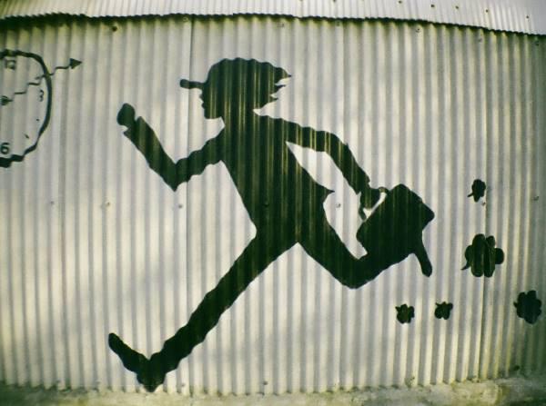 Travl mand løber