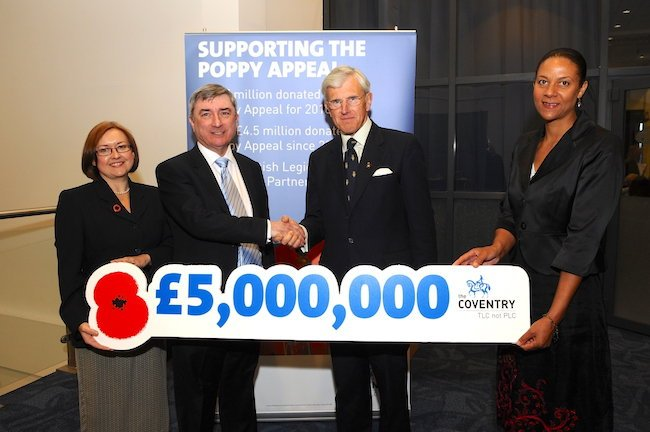 Poppy Appeal presentation from Coventry Building Society