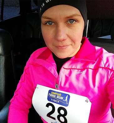 Personal trainer Sanna Haapakangas Simpsiö Run