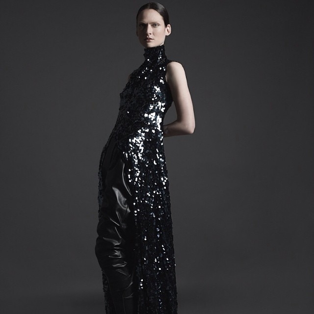 Ainur Turisbek @ainurturisbek AW look photos by Zeb Daemen styling @lottavolkova model @albapistolesi #albapistolesi #ainurturisbek #autumnwinter #kazakhstan #fashion #glitter