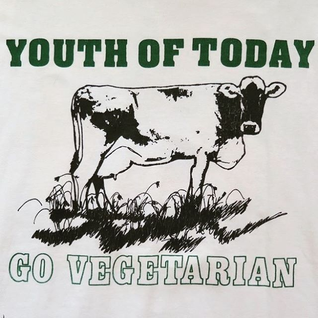 the message is clear #youthoftoday #govegetarian #vegetarian #veggie #green #grass #punkrock #straightedge
