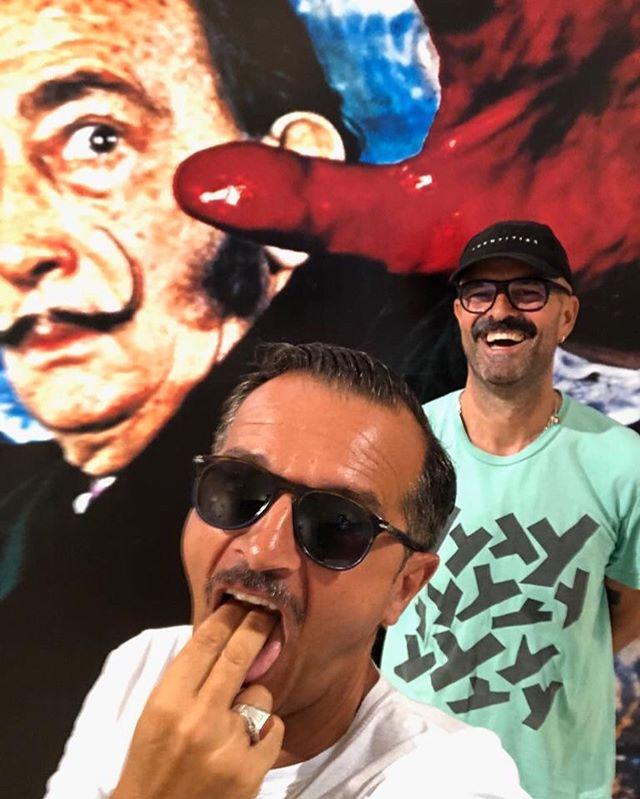 caught red handed hating #salvadordali @metaphoto #publicimagepr #surreal and #hateful #punkrock #vomit #art