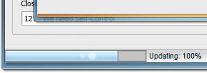 Status bar progress monitoring