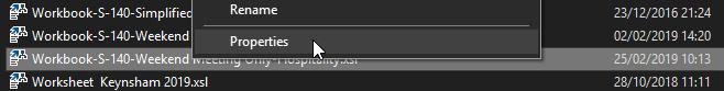 Step 4 - File Explorer - Change properties.