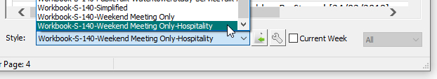 Step 6 - Midweek editor - Select the new style from drop-down list.