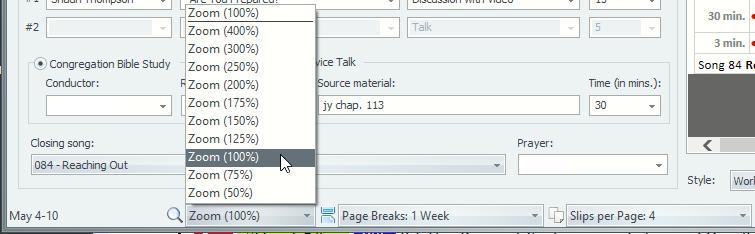 Updated Midweek Editor Status Bar