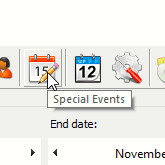 Toolbar — Special Events icon