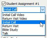 Student Items List