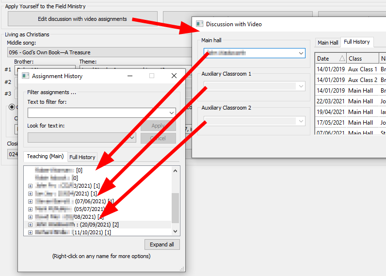 Discussion with Video popup window is now compatible with the Assignment History popup window.