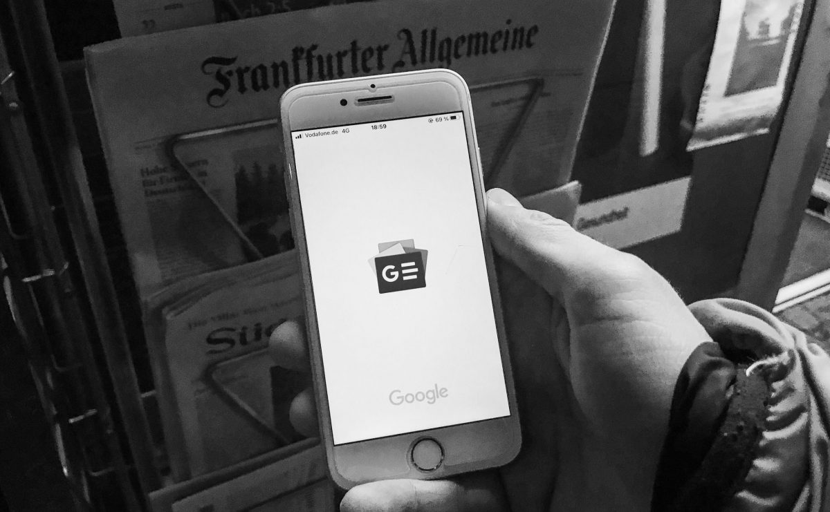 Googles privater Zeitungsmarkt