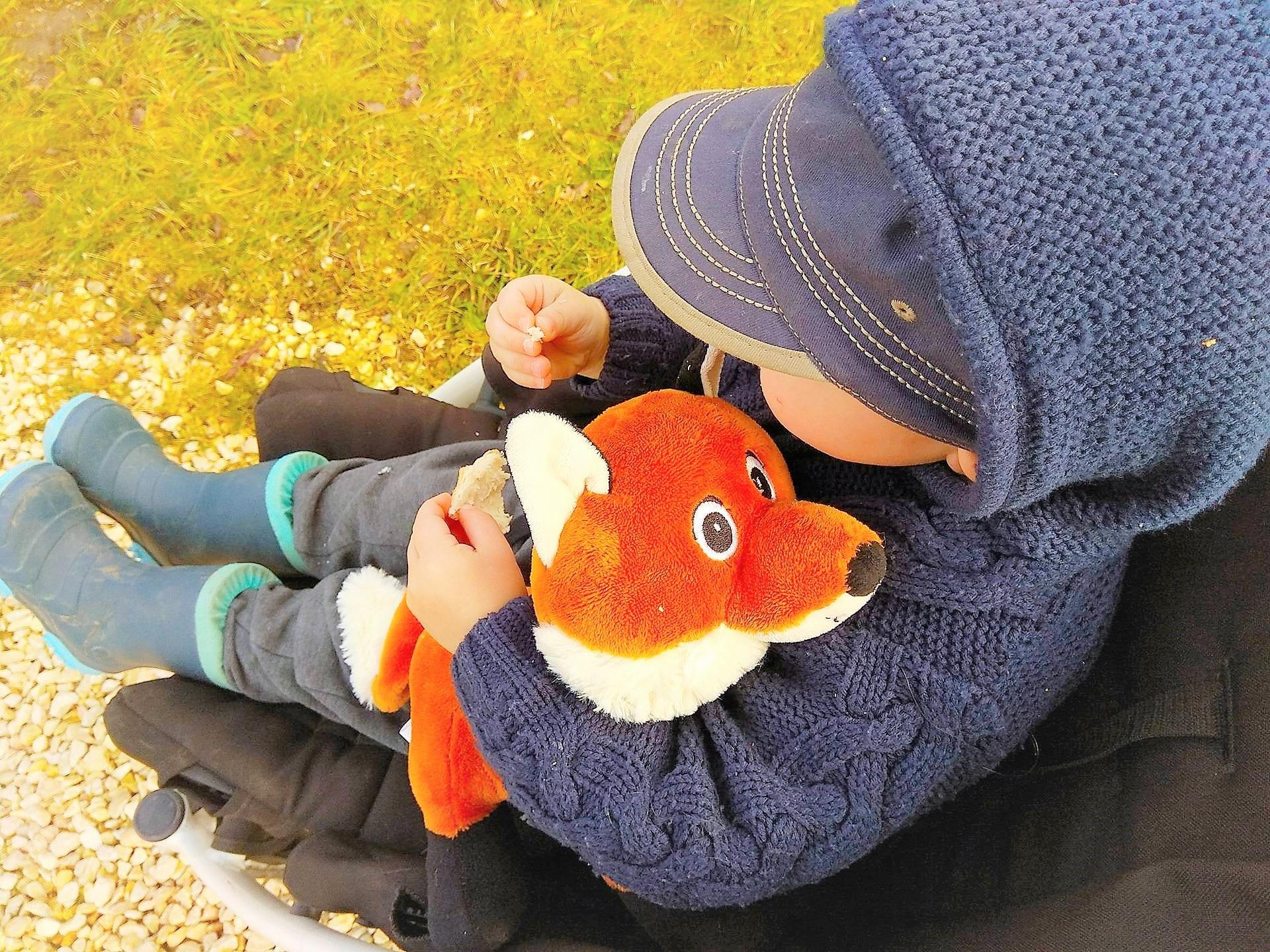 Geschenkideen für zweijährige Knirpse, Kuscheltier, Fuchs, Waldbewohner, Kleinkind, Puddingklecks