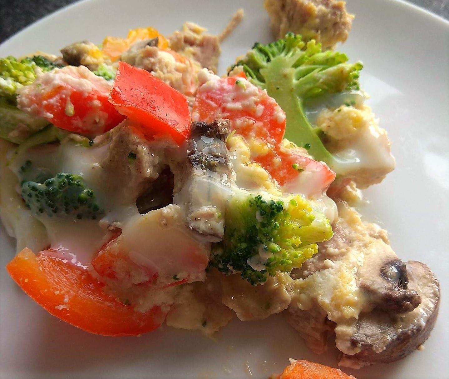 Lieblingsessen, Gemüsepfanne, Pfannengemüse mit Ricotta, vegetarisch, zuckerfrei, clean eating, gesund abnehmen. Ernährungsumstellung, Puddingklecks
