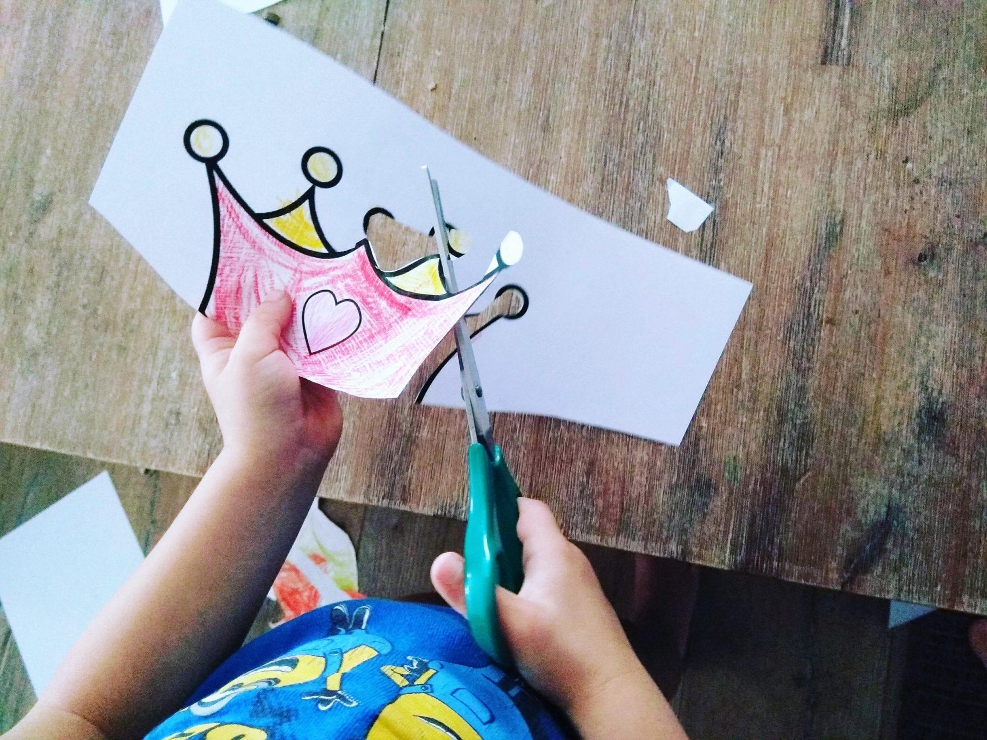 Basteln mit Papier nach Druckvorlage, Basteln mit Kindern, WIB, Puddingklecks