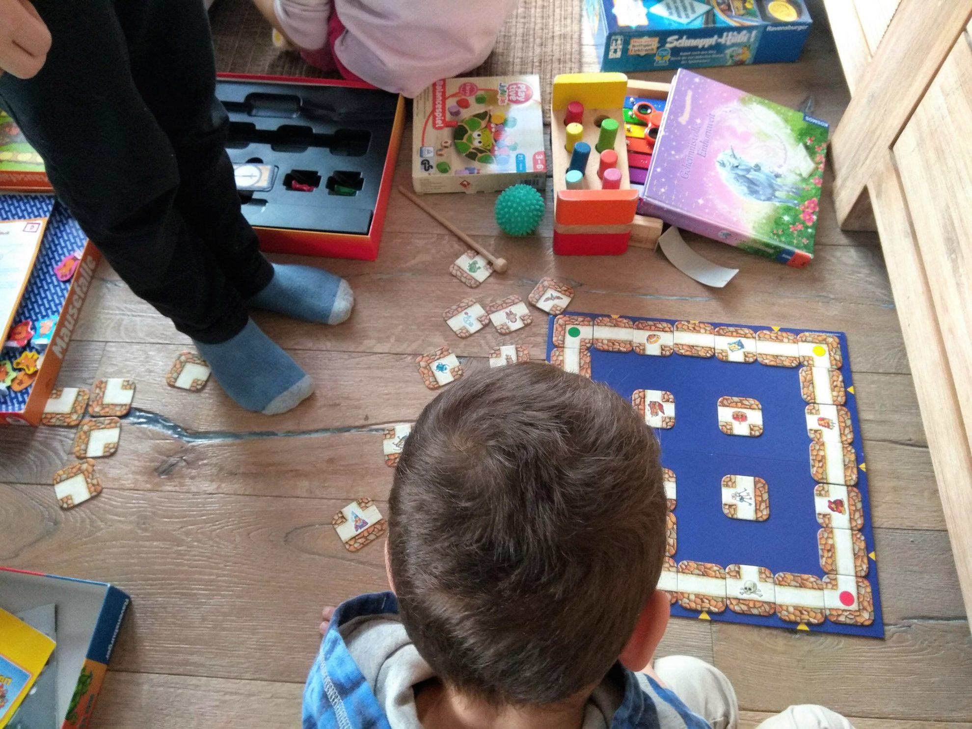 Spielesammlungen sortieren, das verrückte Labyrinth, Mausefalle, Sternenschweif, WIB. Puddingklecks 4.2.18
