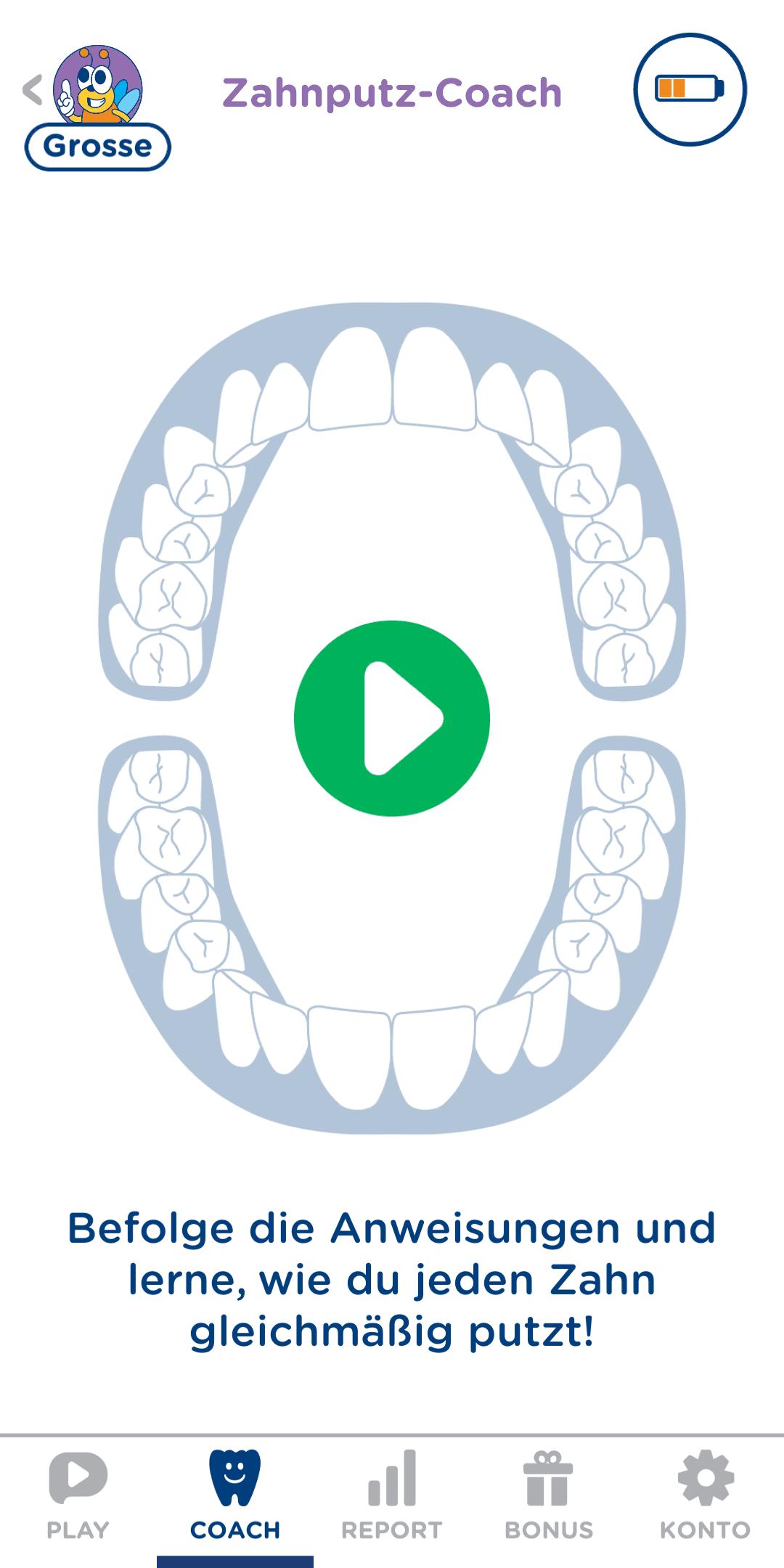 Playbrush, Zähne putzen, Spiele App, Signal, elektrische Zahnbürste
