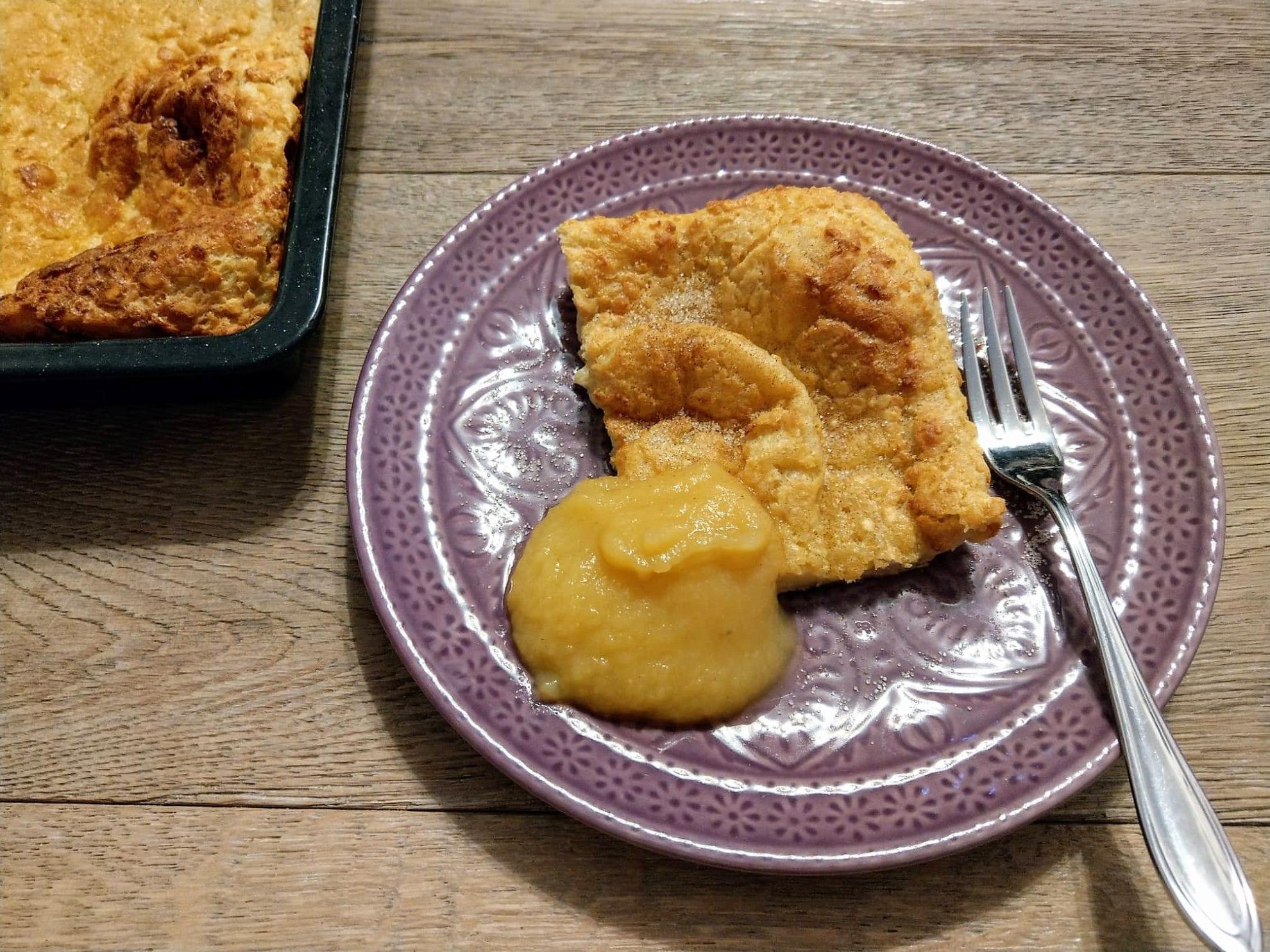 Ofenpfannkuchen, Rezept, einfach, clean eating, zuckerfrei, Vollkornmehl, simpel, Backblech, Pfannkuchen, Eierkuchen, Plinsen