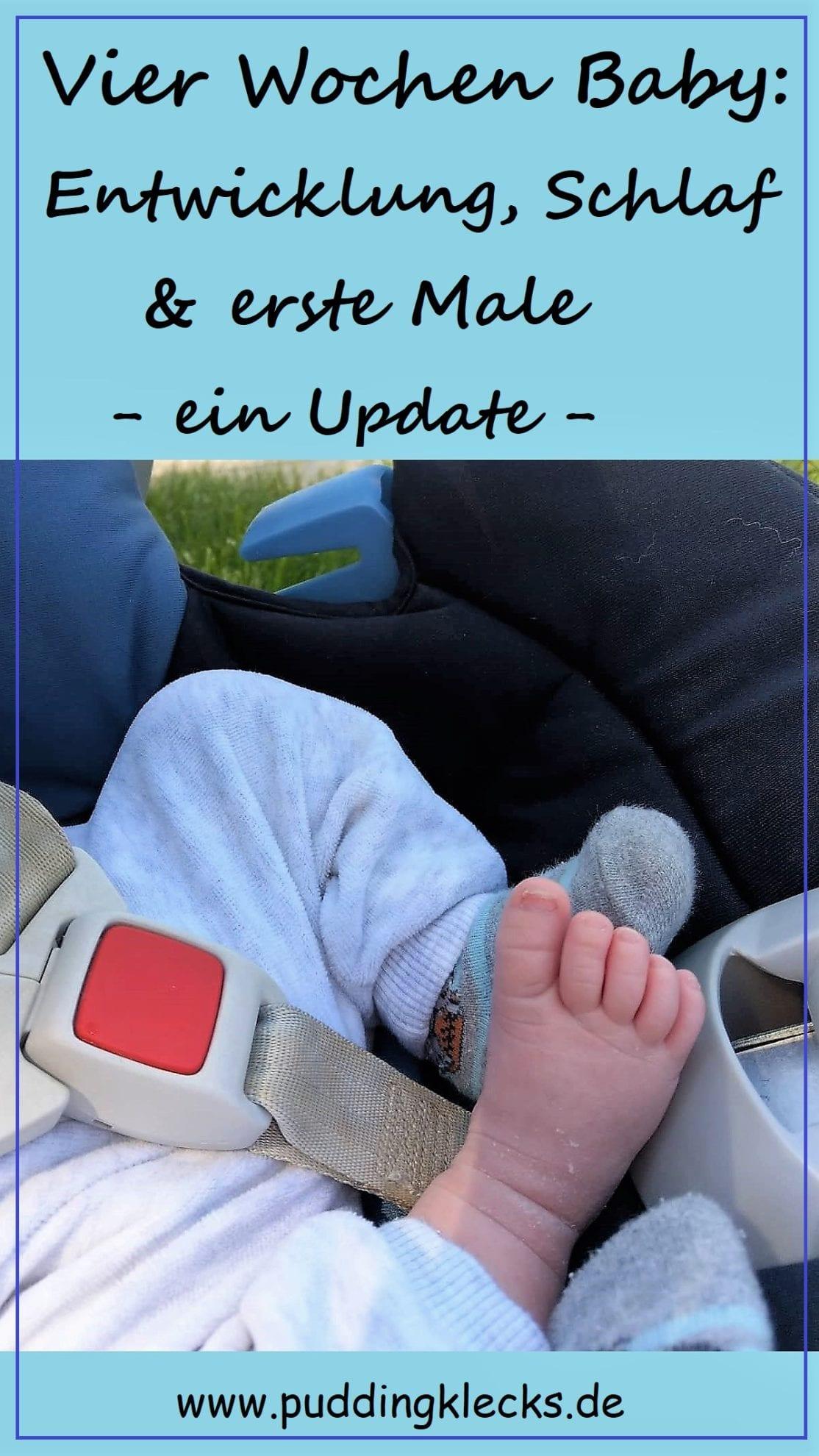 Babyupdate, Entwicklung mit vier Wochen, Update, Schlafverhalten, Trinkverhalten, Allgemeines zum Baby, Mamablog