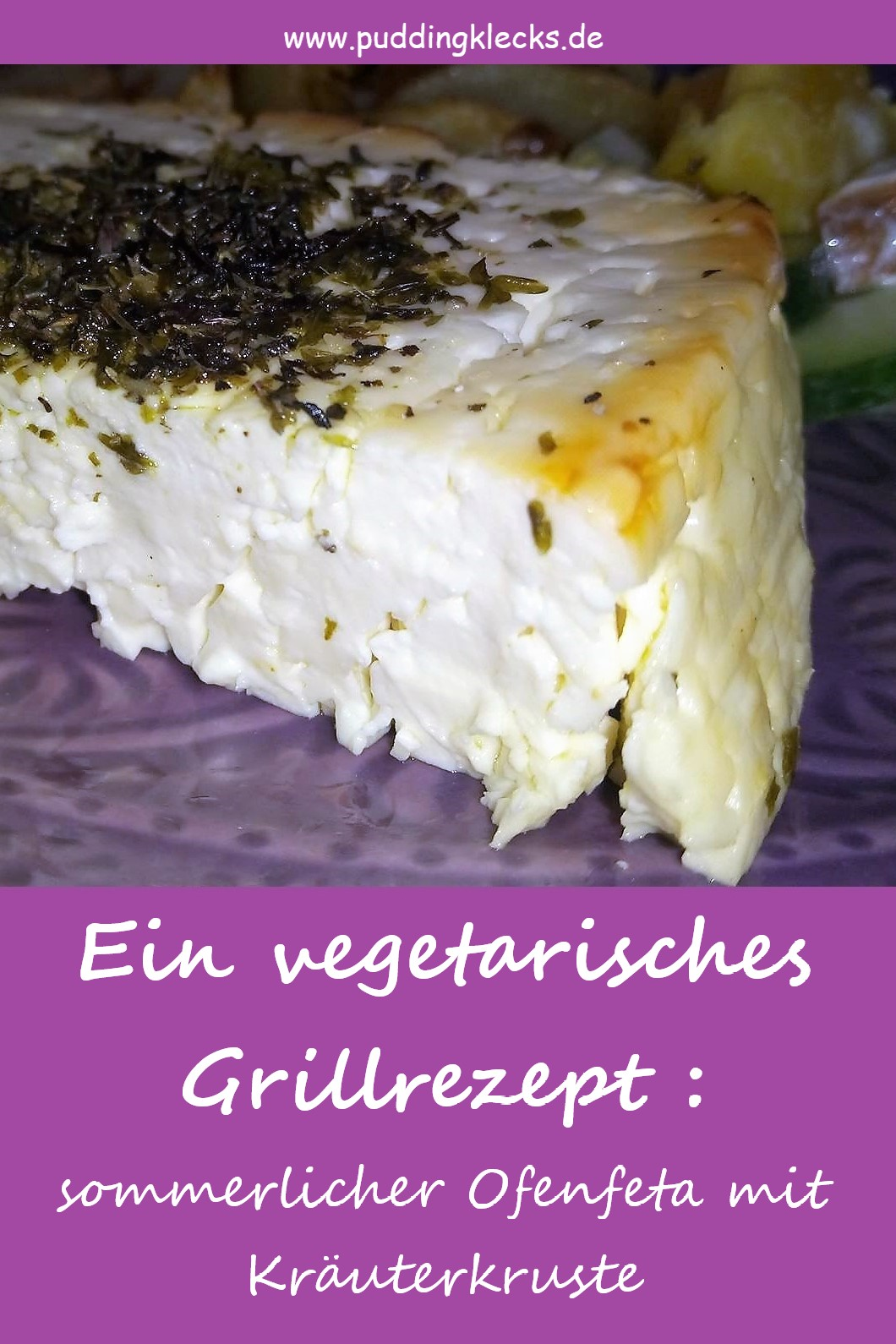 Ofenfeta, Rezept, vegetarisch, Kraeuterkruste