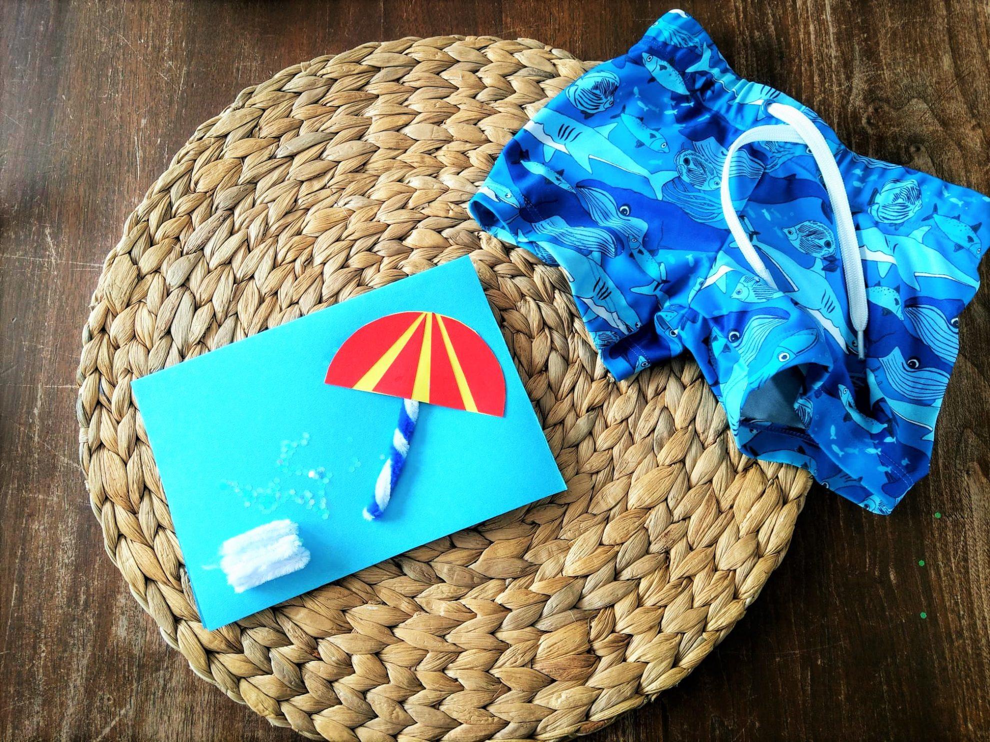 Gartenparty Einladungskarten Titel Badehose DIY