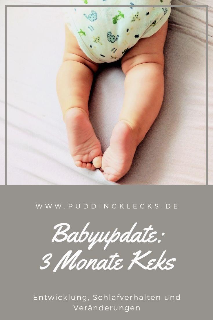 Drei Monate Baby, 13 Wochen Keks, Babyupdate