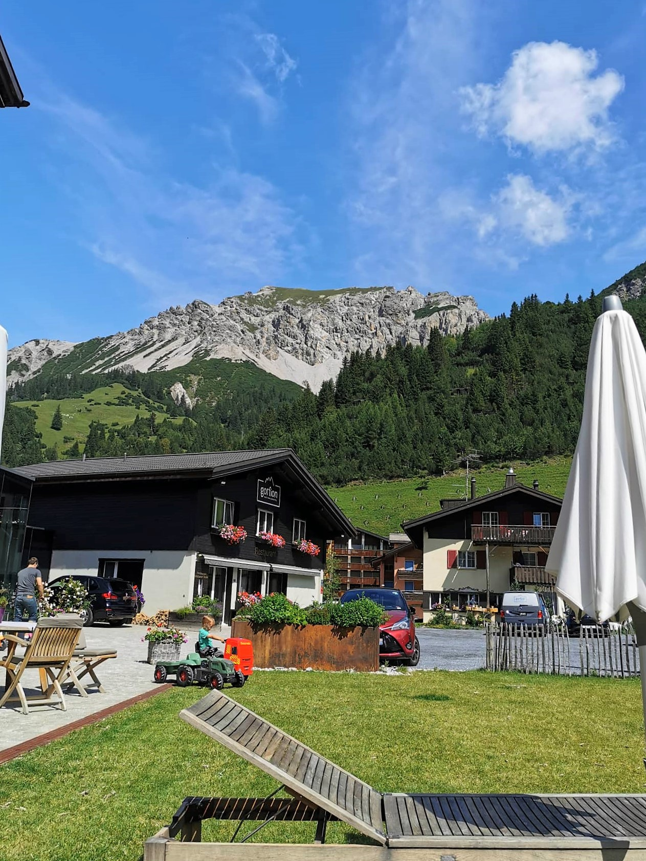 Bergblick in Malbun Liechtenstein