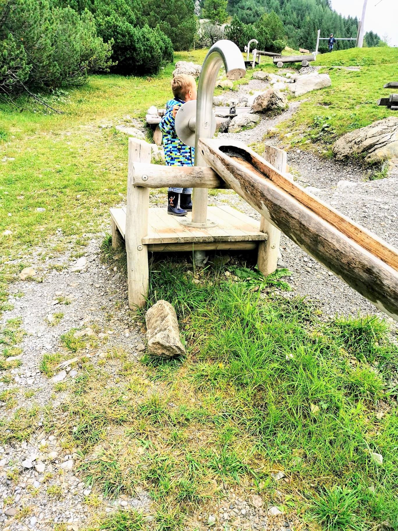 Wasserspielplatz Malbun - Liechtenstein